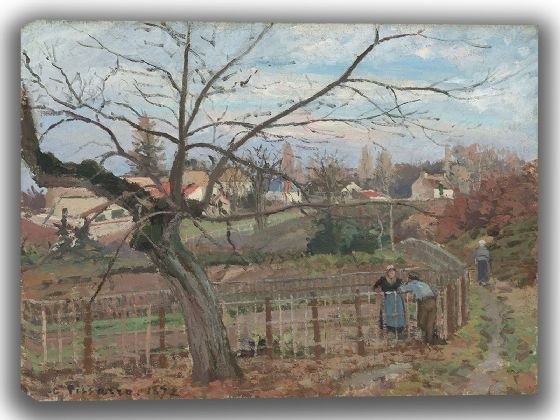 Pissarro, Camille: The Fence. Fine Art Canvas. Sizes: A4/A3/A2/A1 (003954)